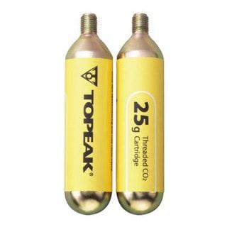 Topeak CO2-Kartuschen mit Gewinde 2er-Pack (2x25 g)