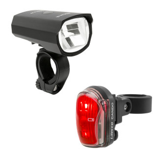 Litecco Highlux 50 Fahrrad-Frontlicht + Cando Rücklicht Set