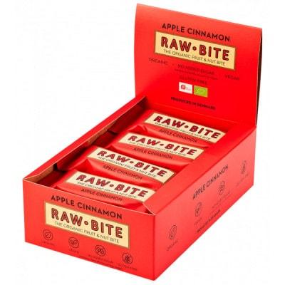 Raw Bite The Organic Fruit Nut Bite Energieriegel vegan Box (12 x 50 g)